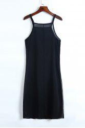 Stylish Cami Black Chiffon Women's Tank Top