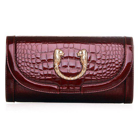 Stylish Embossing and Metal Design Clutch Bag For Women от Rosegal.com INT