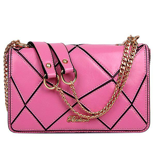Unique Stylish Geometric and Chains Design Crossbody Bag For Women