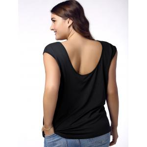 Stylish Plus Size Plunging Neck Criss Cross Top For Women -