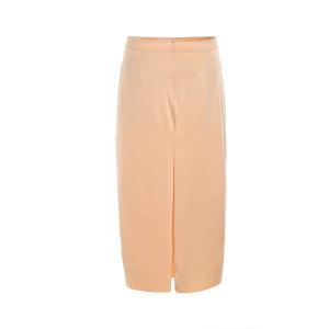 Stylish High Waisted Pure Color Bodycon Women's Skirt - BEIGE S