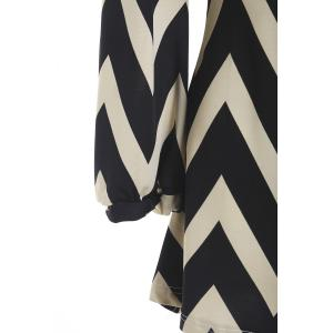 Full Sleeve Zig Zag Dress - KHAKI L