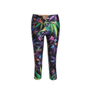 Chic Print Color Block Elastic Stretchy Yoga Pants For Women