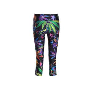 Chic Print Color Block Elastic Stretchy Yoga Pants For Women - COLORMIX ONE SIZE(FIT SIZE XS TO M)