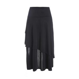 Stylish High-Waist A-Line Gothic Lace-Up Women's Skirt