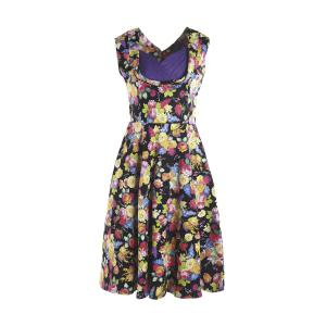 Sweet Style Sweetheart Neck Sleeveless Floral Print Women's Dress