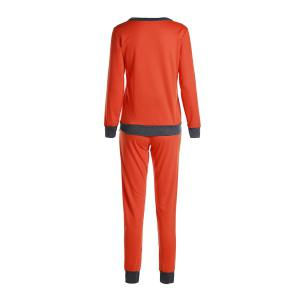 Casual Col rond Activewear de manches longues Color Block de poche design Femmes Suit -