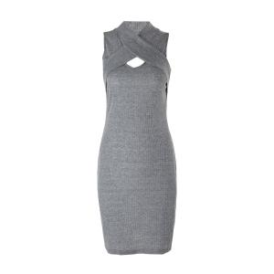 Sleeveless Bodycon Ribbed Knit Bandage Dress