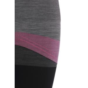 Chic High Stretchy Color Block Spliced Women's Yoga Pants -
