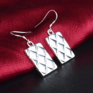 Pair of Vintage Rectangle Drop Earrings For Women -