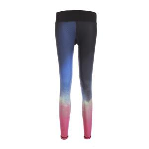 Stylish Elastic Waist Slimming Color Block Yoga Pants For Women