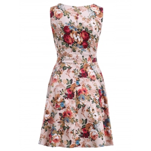 Flower Fit and Flare Dress -