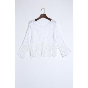 Crochet Trim Beach Cover Up Top