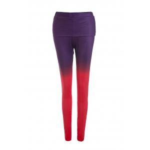 Attractive Ombre Color Skinny Pants