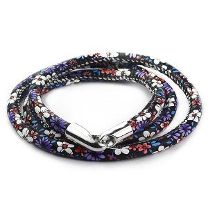 Multilayer Tiny Floral Print Wrap Bracelet