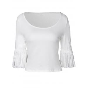 Elegant Half Sleeve Knit Render T-Shirt For Women