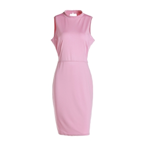 Sleeveless Hollow Out Knee Length Prom Bodycon Dress