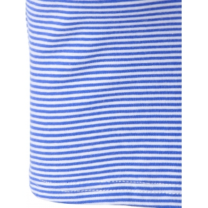 Fashionable Contracted Striped Short T For Women - BLUE/WHITE S