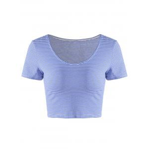 Fashionable Contracted Striped Short T For Women