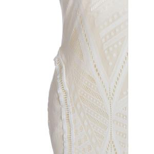 Sleeveless Open Back Tight Prom Slit Dress - WHITE ONE SIZE(FIT SIZE XS TO M)