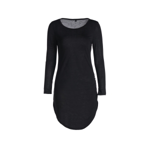 Stylish Slash Neck 3/4 Sleeve Bodycon Dress For Women