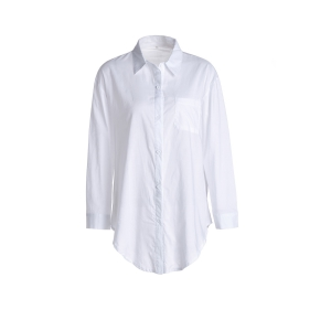 Button Up Long Sleeve Pocket Formal Tuxedo Shirt - White - Xl