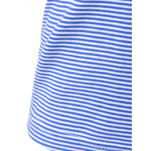 Navy Wind Striped Condole Belt Vest For Women -