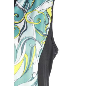 Stylish Sleeveless Abstract Printed Bodycon Plus Size Dress For Women - COLORMIX XL