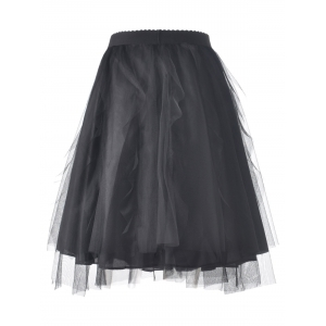 Stylish Simple Voile Solid Color Bud Skirt For Women -