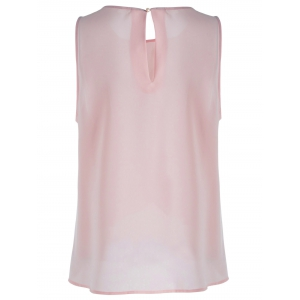 Sweet Slimming Scoop Neck Tulip Blouse For Women -