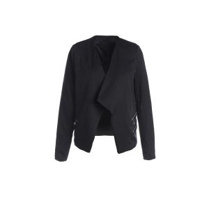 Stylish Lapel Long Sleeve Zipper Design Women's Blazer