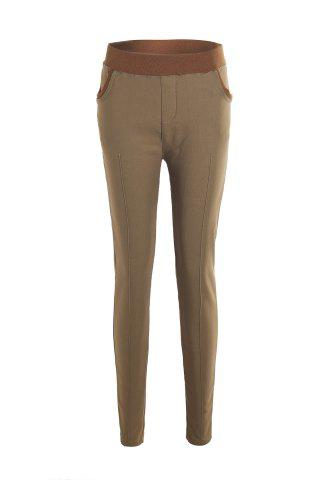 Shops Casual Splicing Thicken Flocking Plus Size Pants For Women