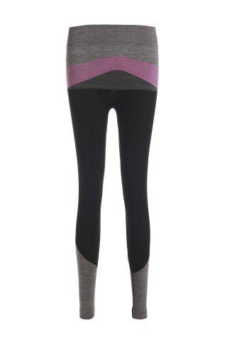 Fashion Chic High Stretchy Color Block Spliced Women's Yoga Pants