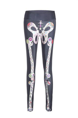 Fancy Active High Stretchy Skeleton Print Women's Yoga Pants - COLORMIX  Mobile