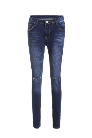 New Stylish High-Waisted Skinny Ripped Jeans For Women