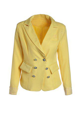 Best Stripe Tailored Collar Long Sleeves Polyester Ladylike Style Women's Blazer