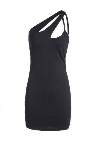 Cheap Sexy Criss-Cross Black Backless Dress  For Women