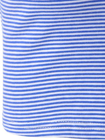 Hot Fashionable Contracted Striped Short T For Women - L BLUE AND WHITE Mobile