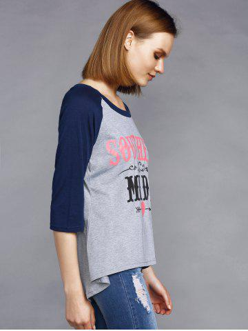 Street Style Round Collar Letter Print Half Sleeve Tee For Women от Rosegal.com INT