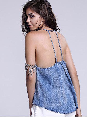 New Washed Cami Tank Top - XL BLUE Mobile