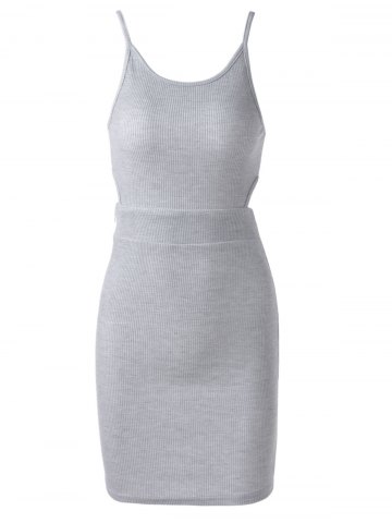 Best Stylish Simple Design Cut Out Sleeveless Tank Dress For Women