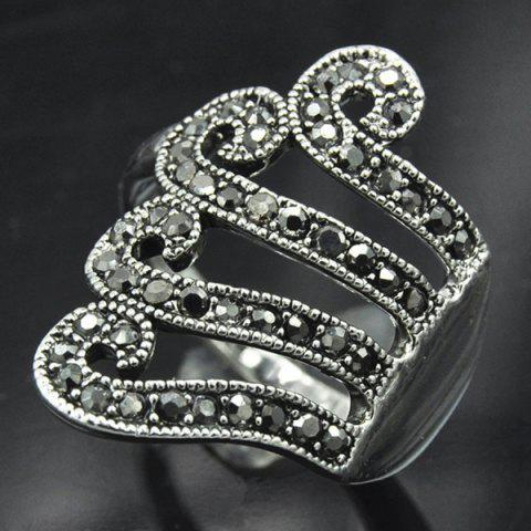 Hot Vintage Rivet Decorated Octopus Ring SILVER GRAY ONE-SIZE