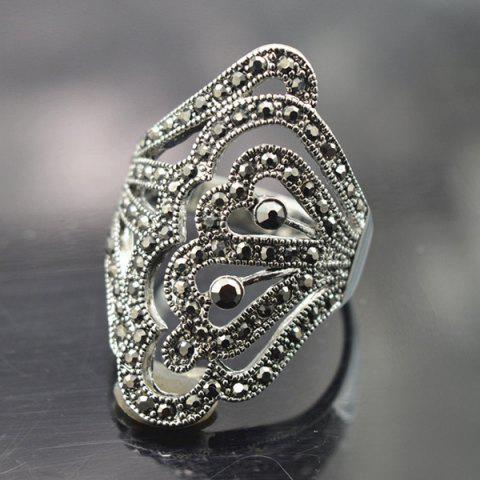 Outfits Rhinestoned Hollowed Butterfly Ring