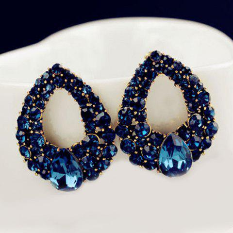 Outfits Water Drop Fake Crystal Hollowed Earrings
