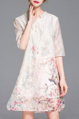 Outfits Loose-Fitting Landscape Painting Cheongsam Dress