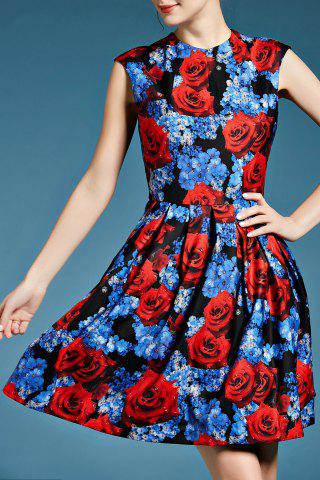 Best Sleeveless Fit and Flare Floral Dress