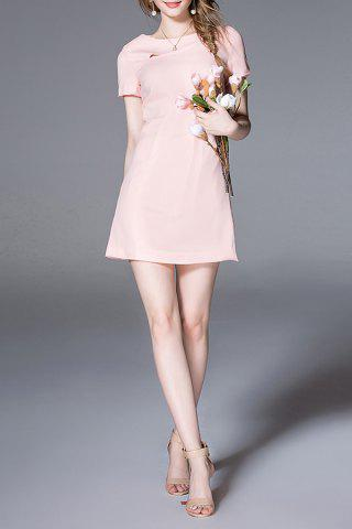 Online Solid Color Straight Dress