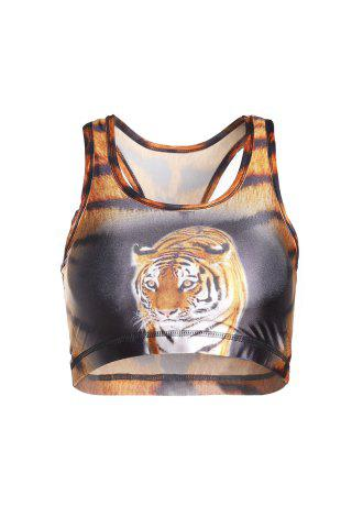 Best Stylish U Neck Tiger Printed Tank Top For Women