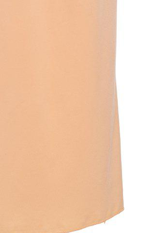 Fashion Stylish High Waisted Pure Color Bodycon Women's Skirt - M BEIGE Mobile
