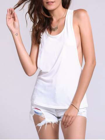 Online Backless Fropped Armhole Tank Top
